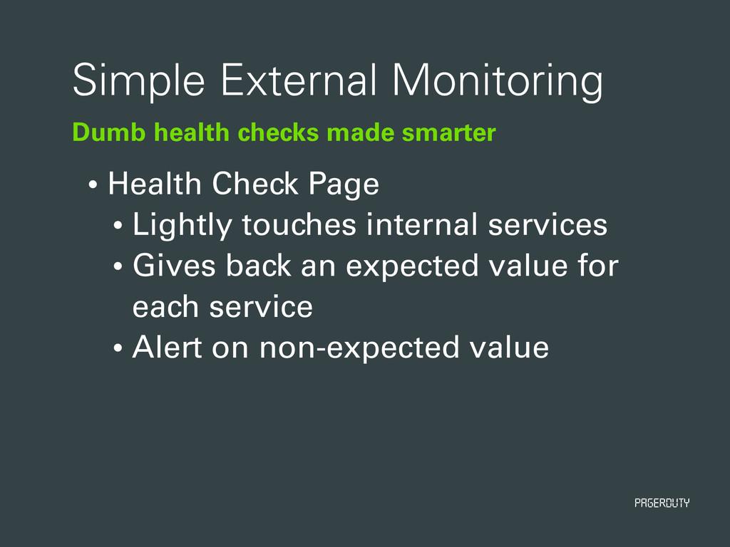 PagerDuty Dumb health checks made smarter Simpl...