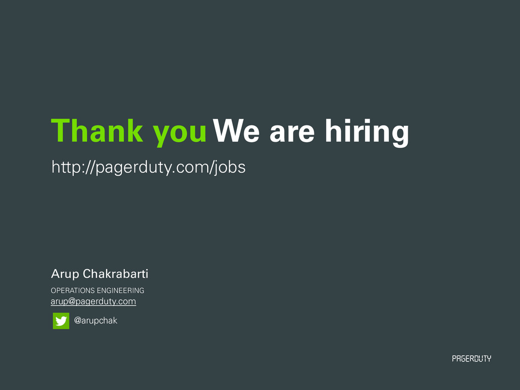 PagerDuty arup@pagerduty.com Thank you We are h...