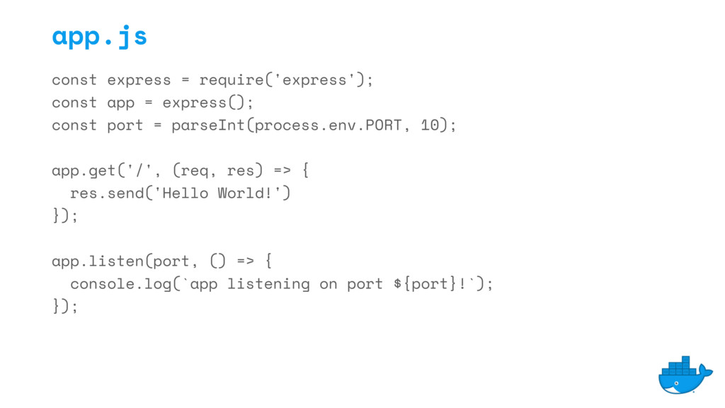 const express = require('express'); const app =...