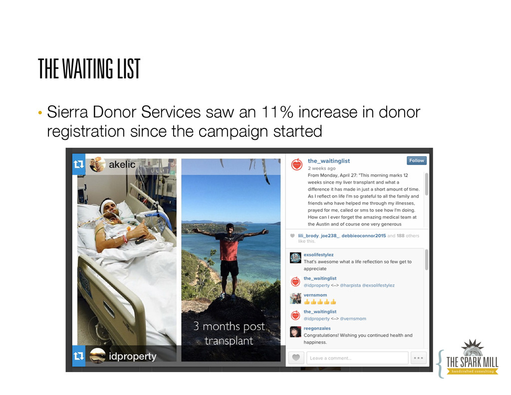 THE WAITING LIST • Sierra Donor Services saw a...