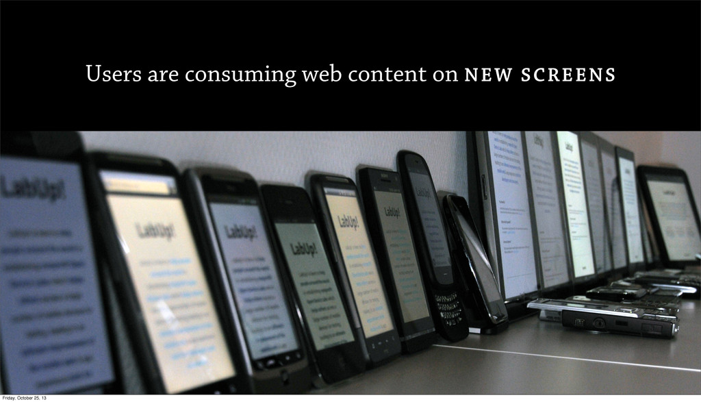 Users are consuming web content on NEW SCREENS ...