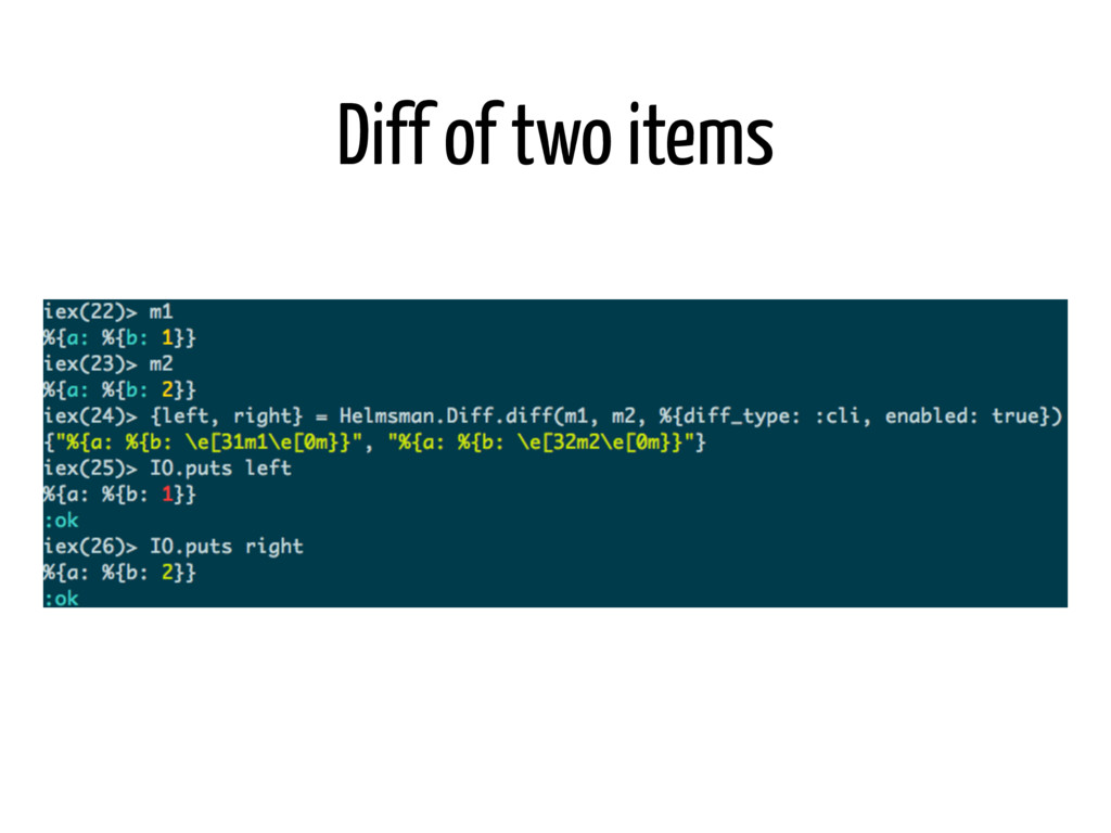 Diff of two items