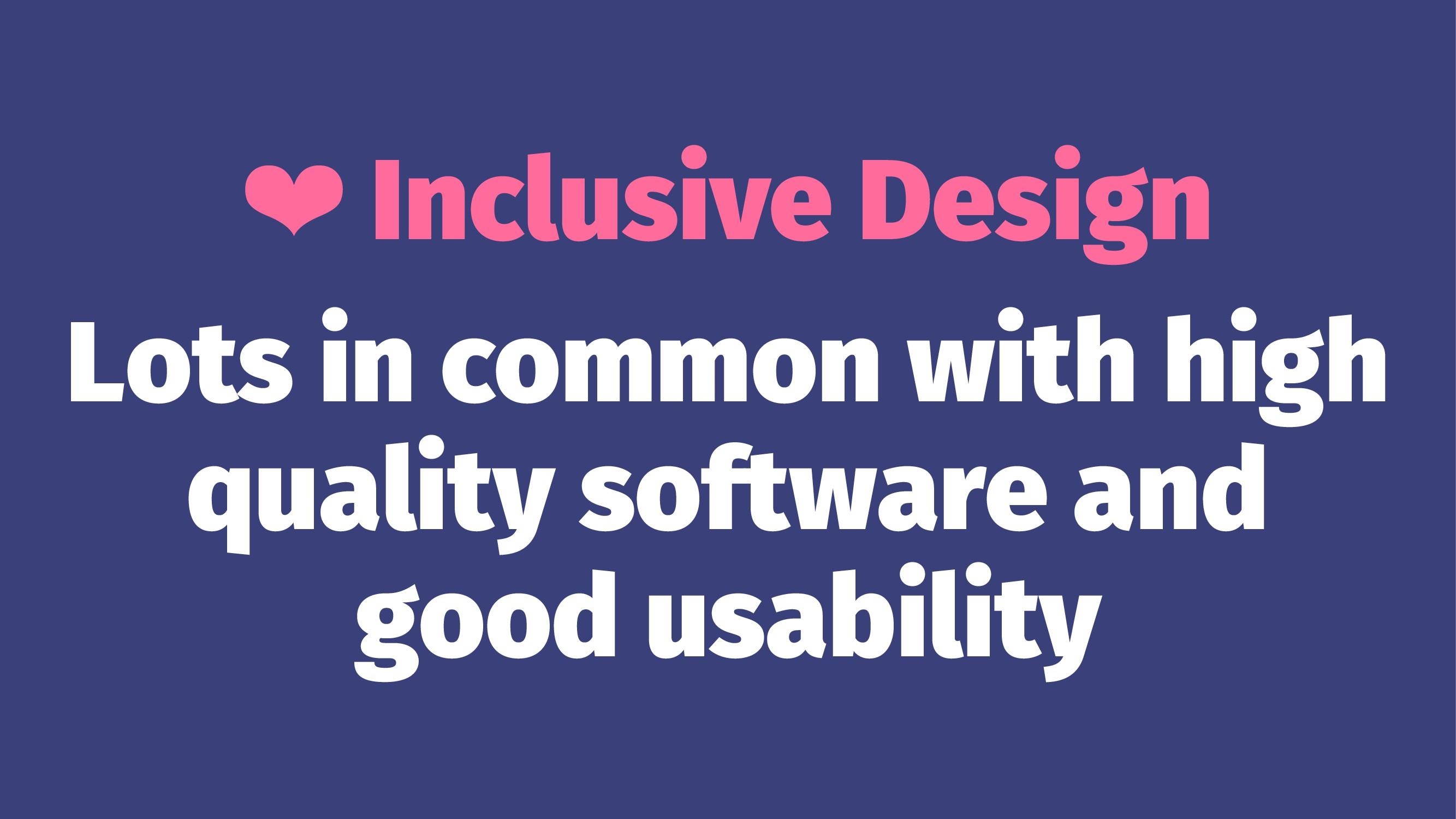❤ Inclusive Design Lots in common with high qua...