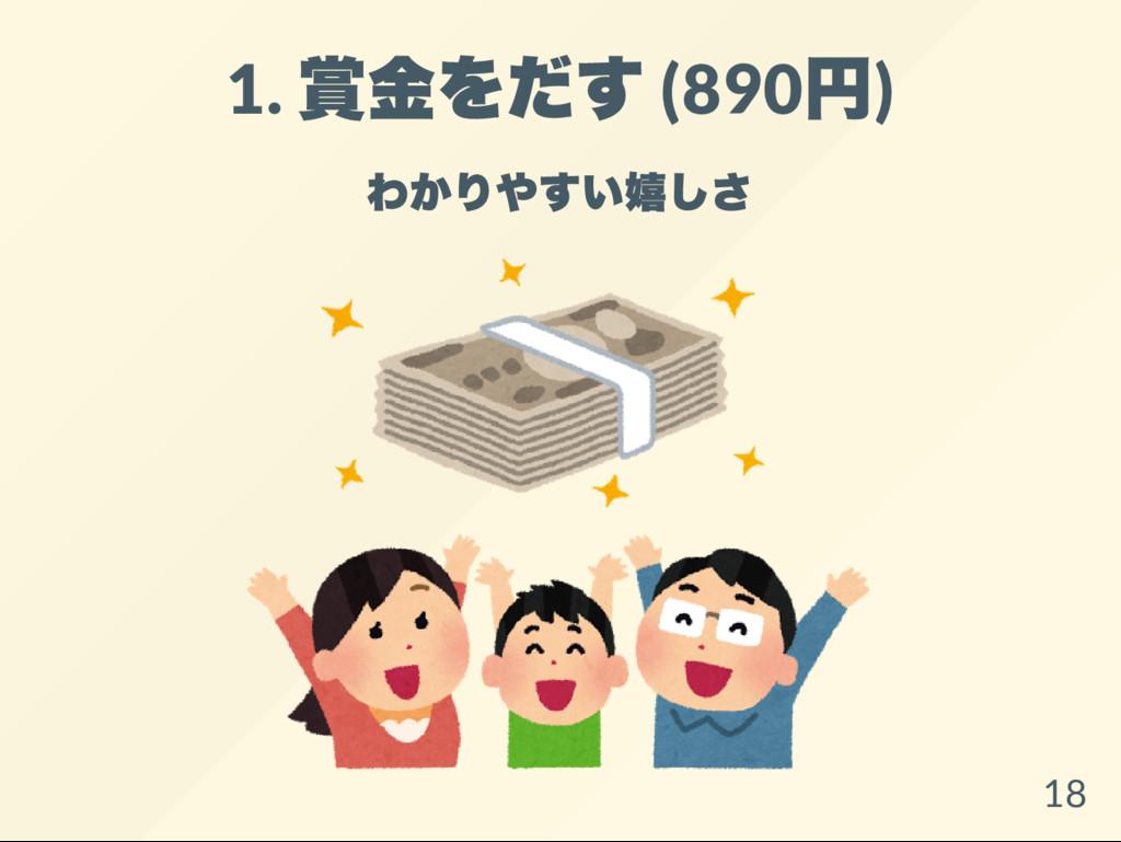 1. 賞金をだす (890 円) わかりやすい嬉しさ 18