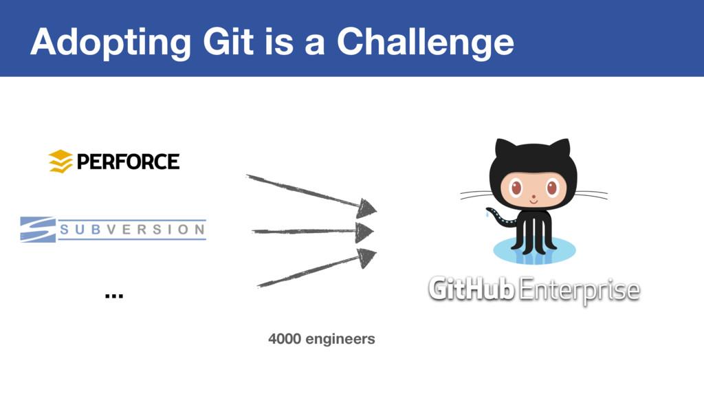 Adopting Git is a Challenge ... 4000 engineers