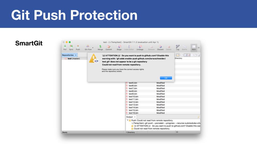 Git Push Protection SmartGit