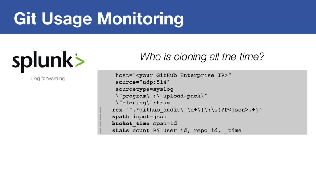 "Git Usage Monitoring host=""<your GitHub Enterpr..."