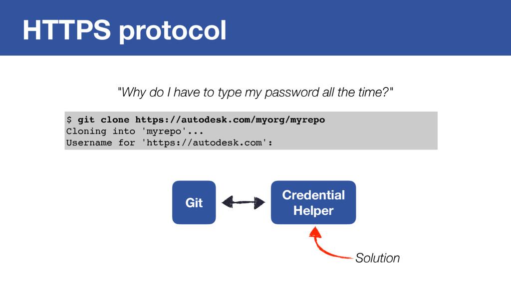 HTTPS protocol $ git clone https://autodesk.com...