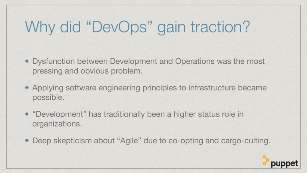 """Why did """"DevOps"""" gain traction? Dysfunction bet..."""