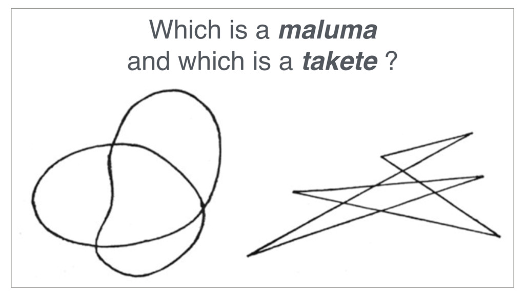 Which is a maluma and which is a takete ?