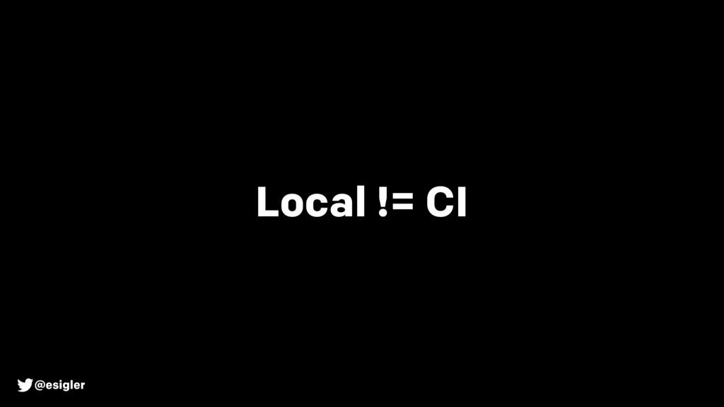 @esigler Local != CI