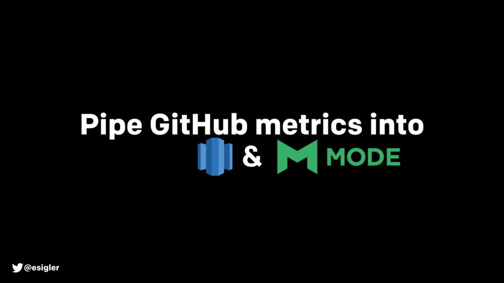@esigler Pipe GitHub metrics into &