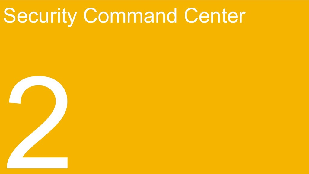 Security Command Center 2