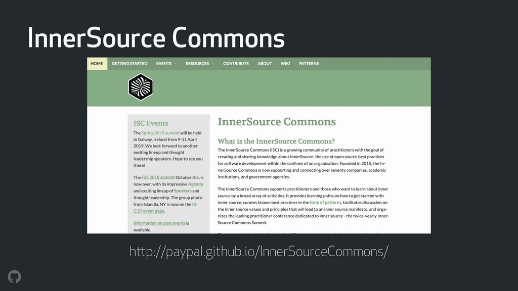 InnerSource Commons http://paypal.github.io/Inn...