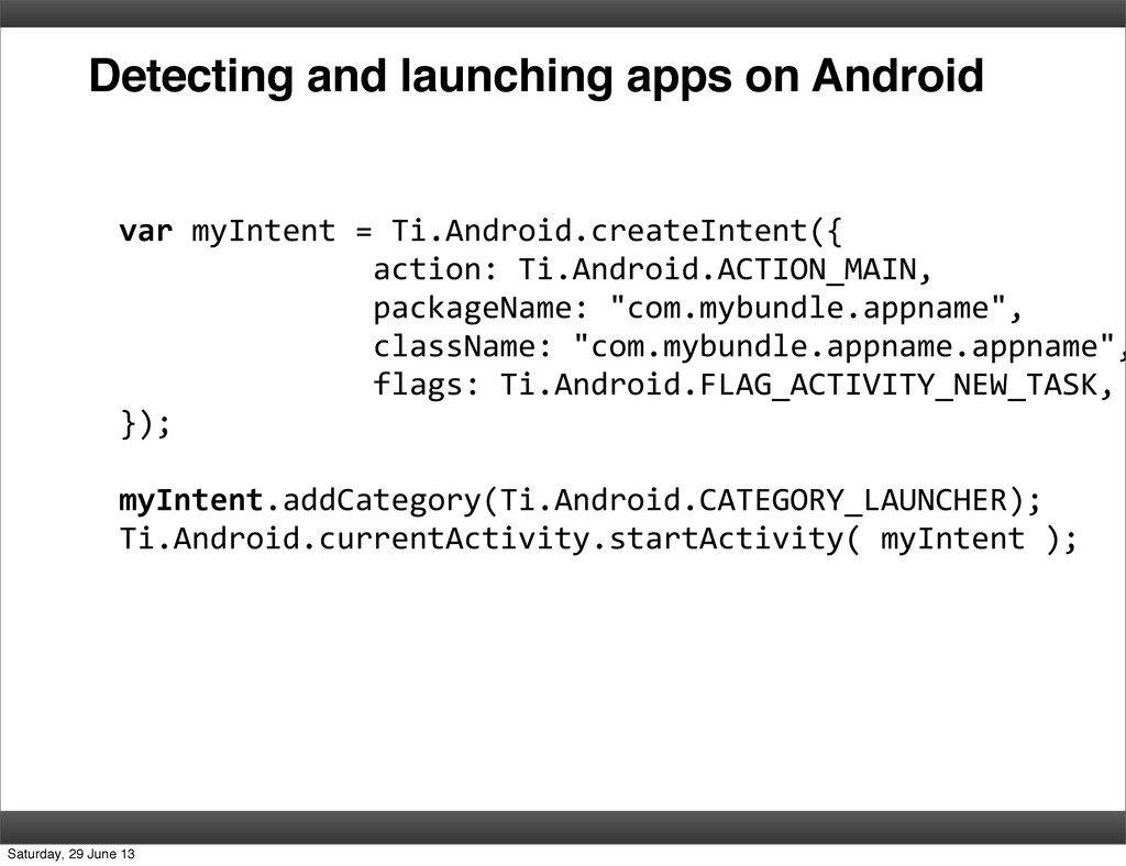Detecting and launching apps on Android var ...