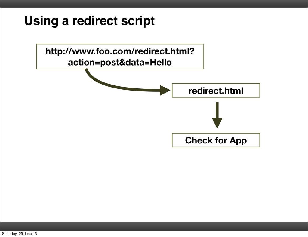 Using a redirect script http://www.foo.com/redi...