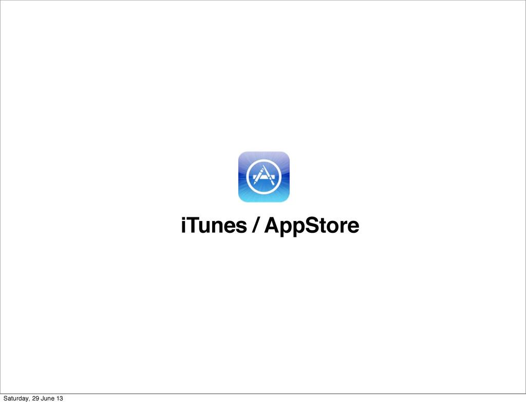 iTunes / AppStore Saturday, 29 June 13