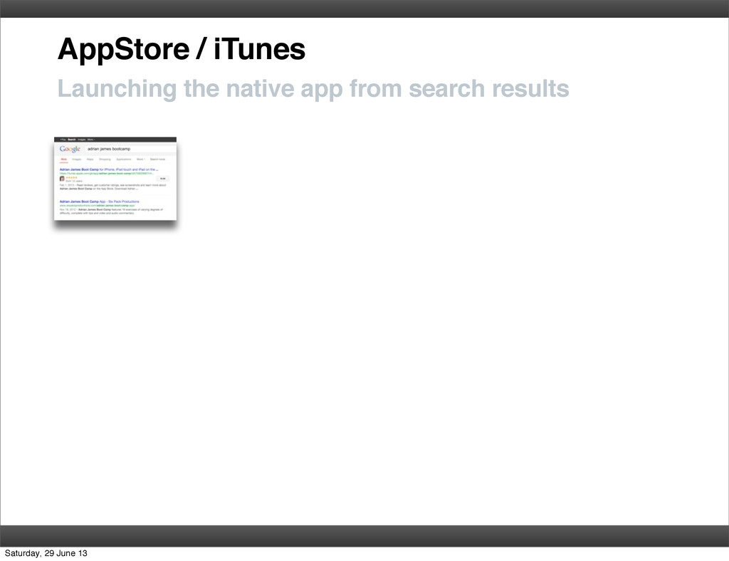 AppStore / iTunes Launching the native app from...