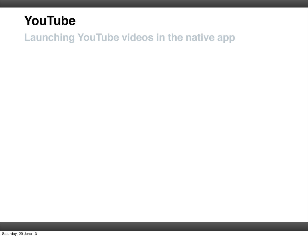 YouTube Launching YouTube videos in the native ...