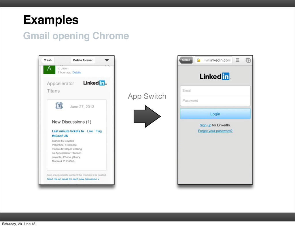Examples Gmail opening Chrome App Switch Saturd...
