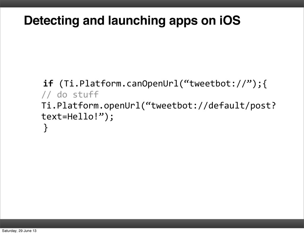 Detecting and launching apps on iOS    ...