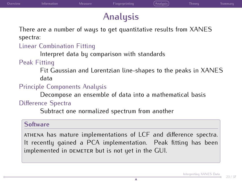 Overview Information Measure Fingerprinting Ana...