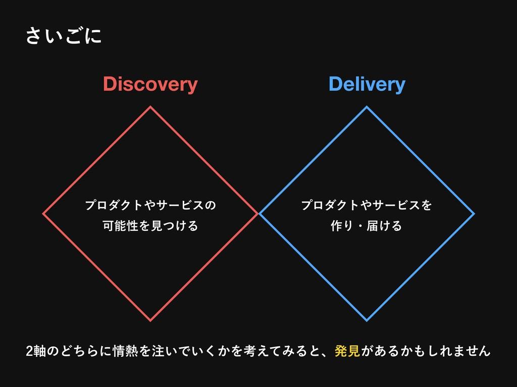 Discovery Delivery ϓϩμΫταʔϏεͷ ՄੑΛݟ͚ͭΔ ϓϩμΫτ...