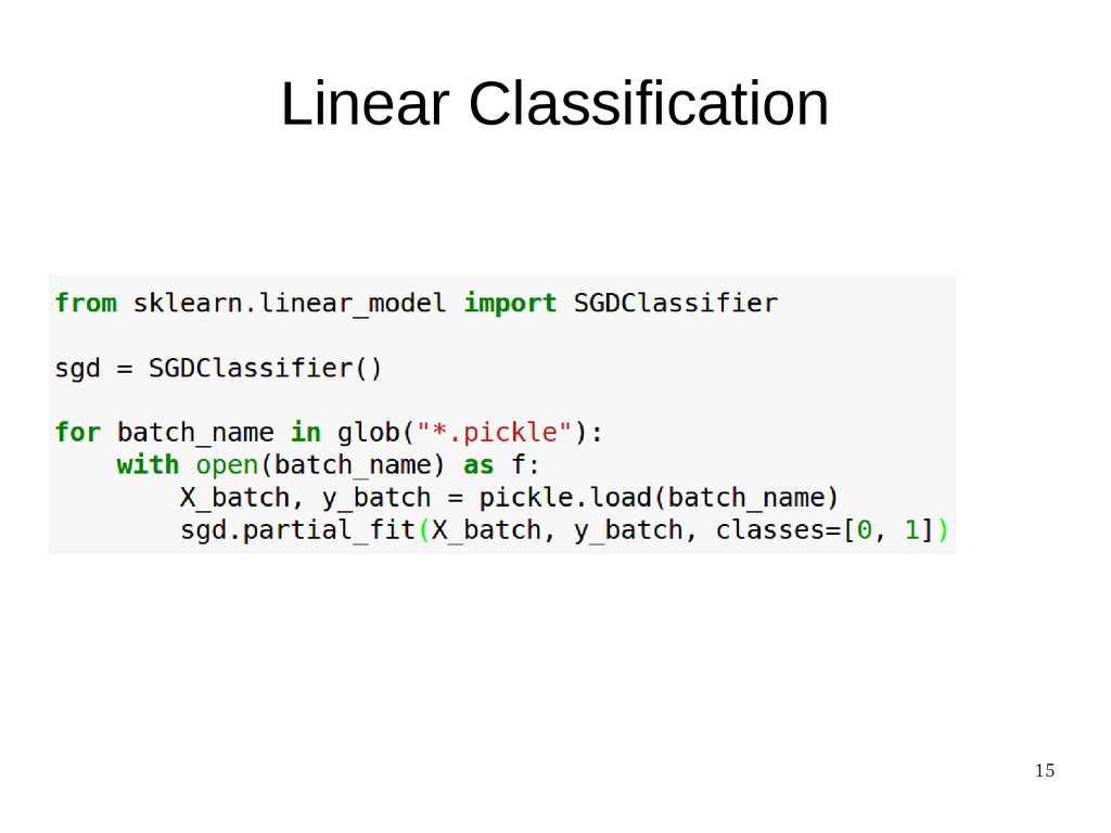 15 Linear Classification
