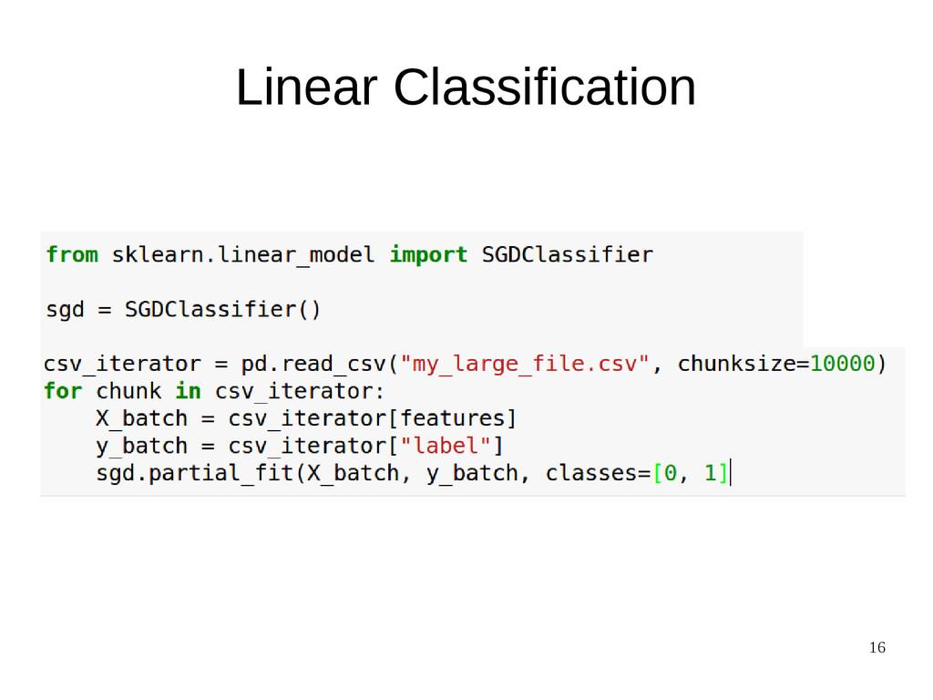 16 Linear Classification
