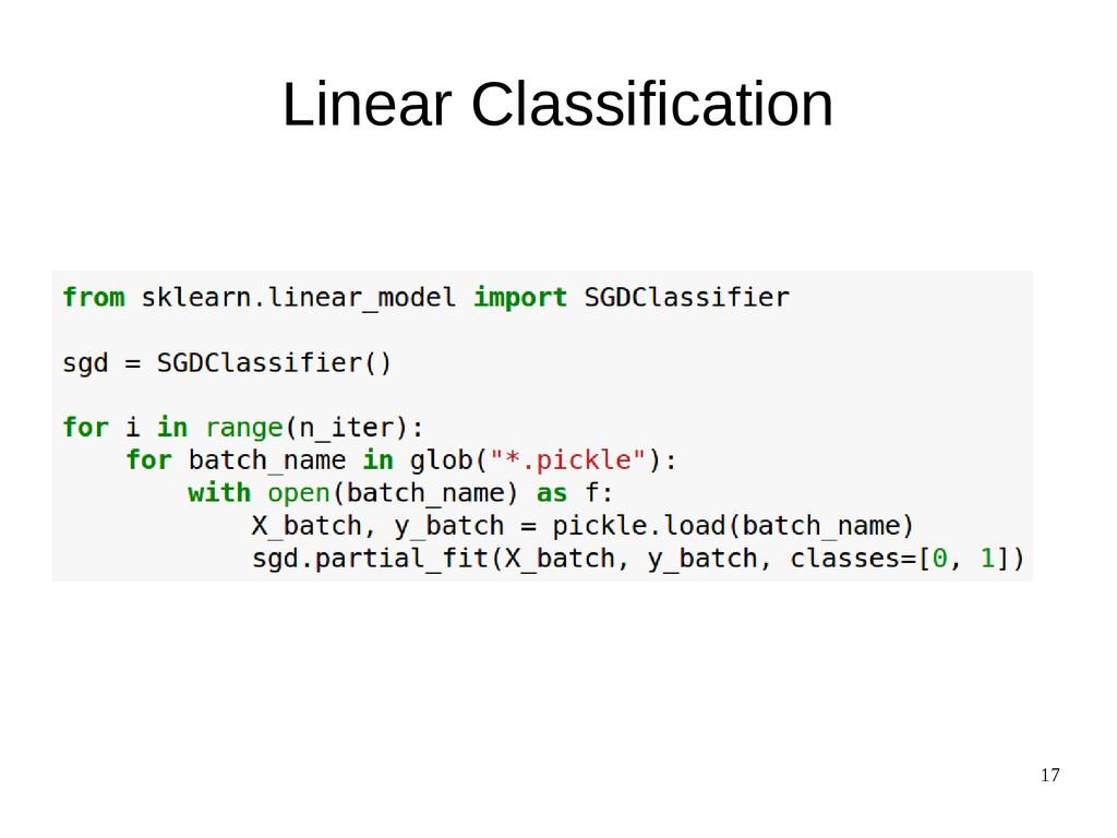 17 Linear Classification