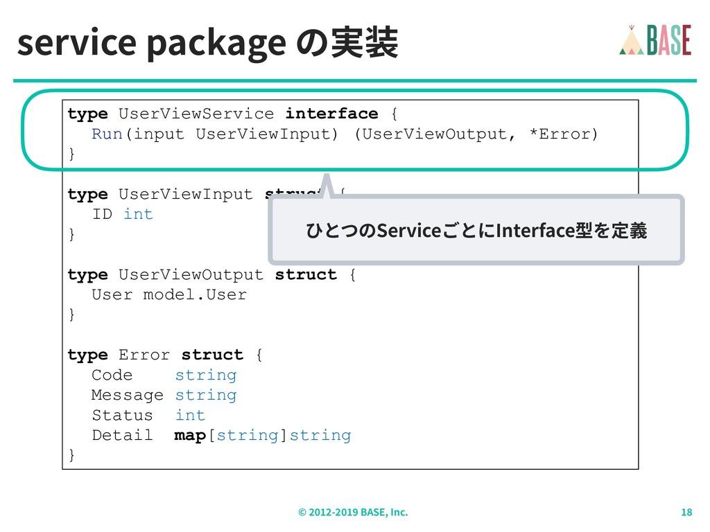 © - BASE, Inc. type UserViewService interface {...