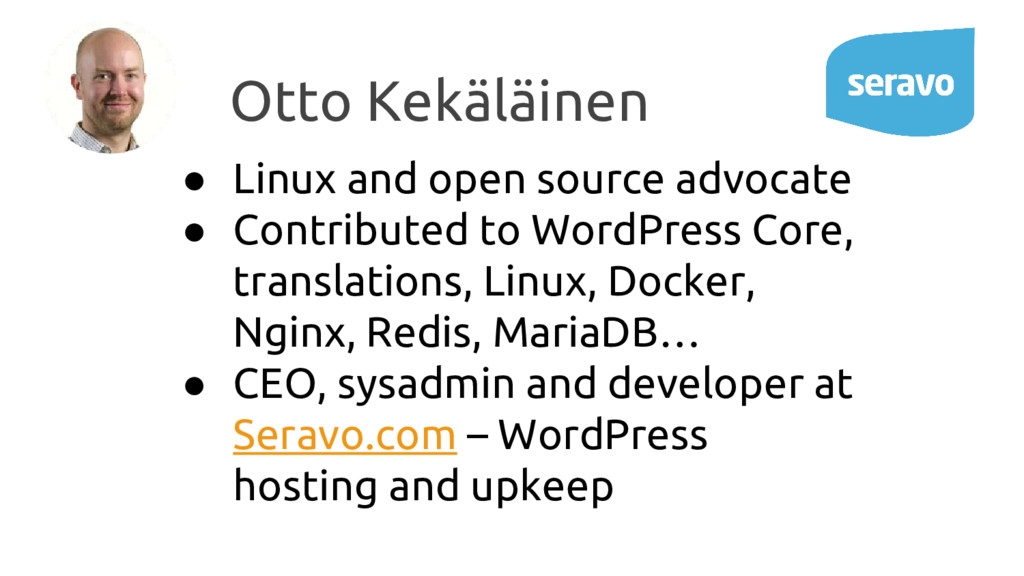 ● Linux and open source advocate ● Contributed ...