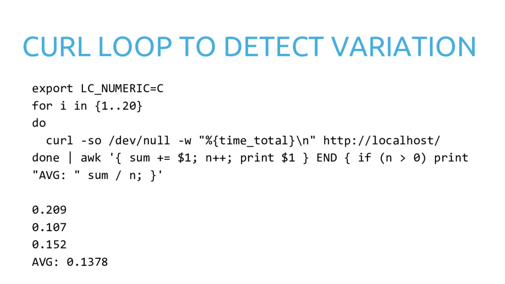 CURL LOOP TO DETECT VARIATION export LC_NUMERIC...
