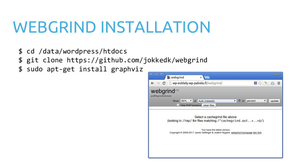 WEBGRIND INSTALLATION $ cd /data/wordpress/htdo...