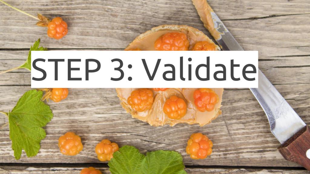 STEP 3: Validate
