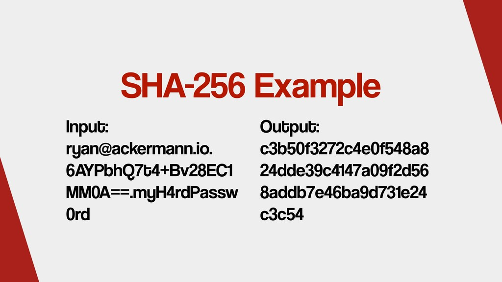 SHA-256 Example Input: ryan@ackermann.io. 6AYPb...