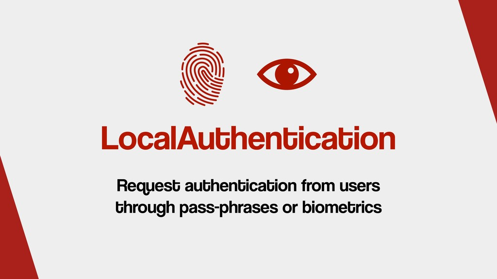 LocalAuthentication Request authentication from...