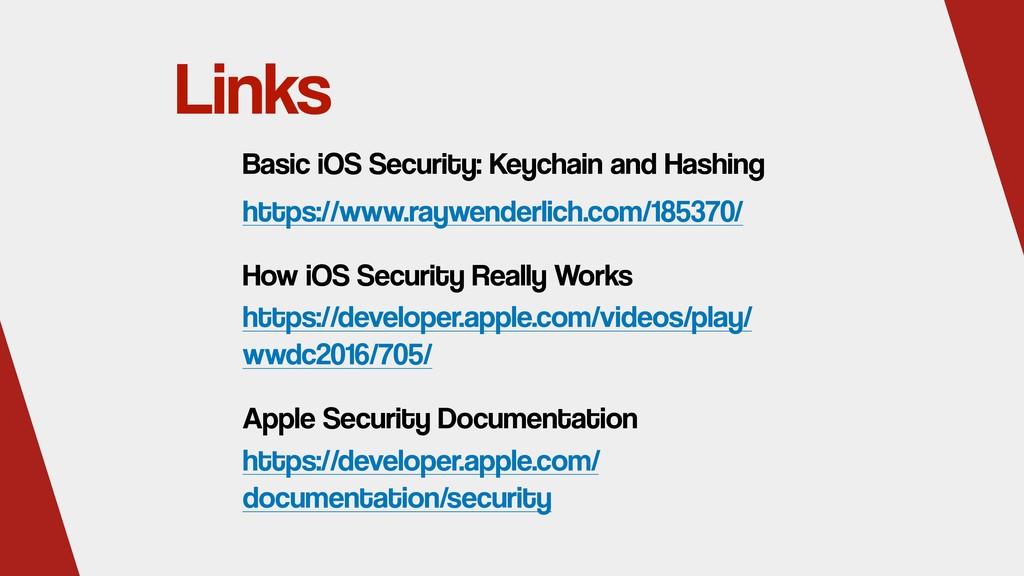 Links https://www.raywenderlich.com/185370/ Bas...