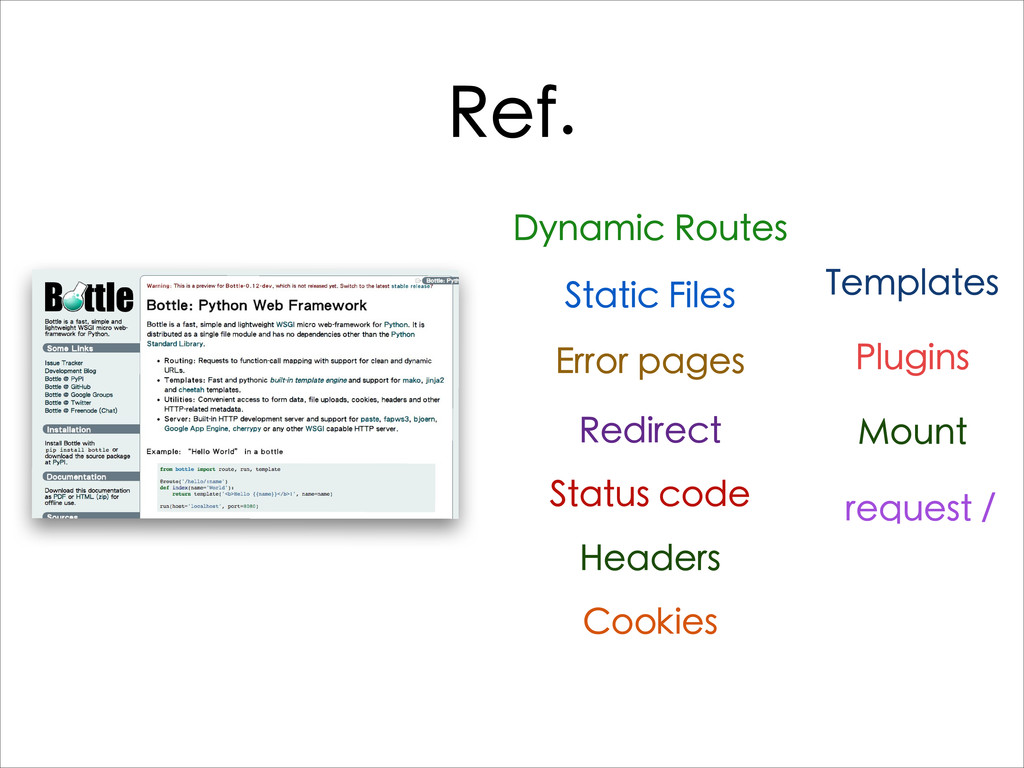 Ref. Dynamic Routes Static Files Error pages Re...