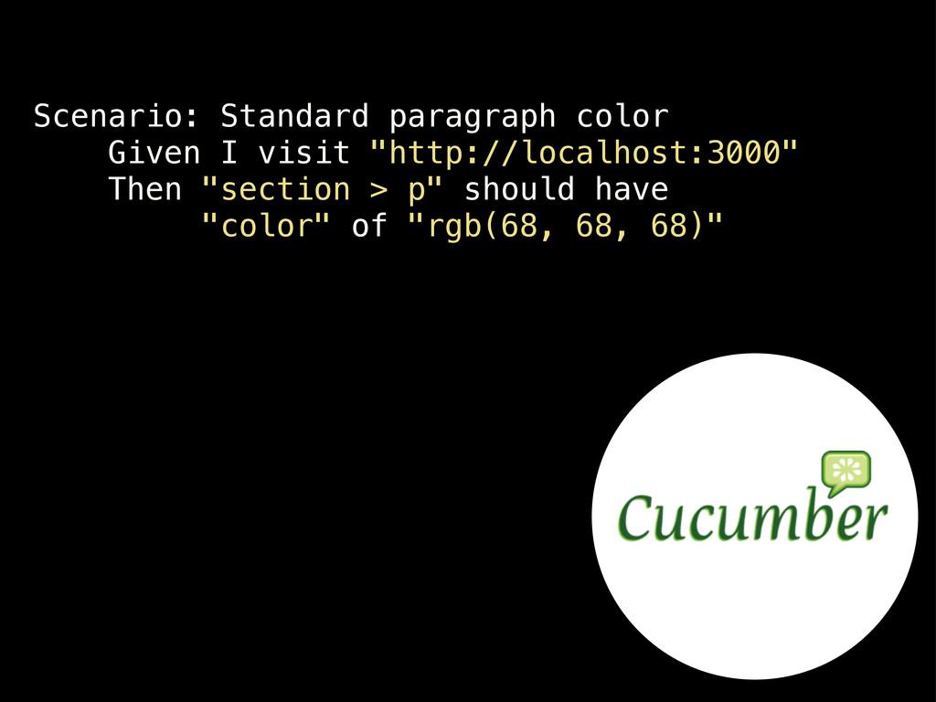 Scenario: Standard paragraph color Given I visi...