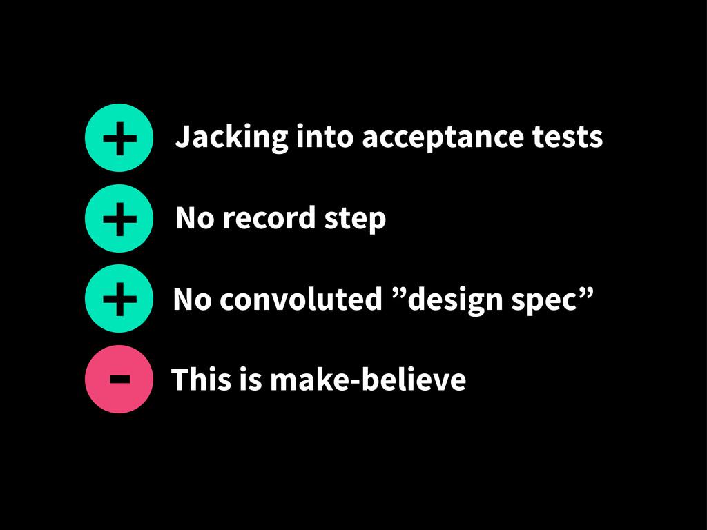 """No record step + No convoluted """"design spec"""" + ..."""