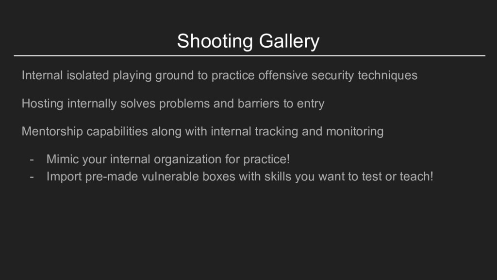 Shooting Gallery Internal isolated playing grou...