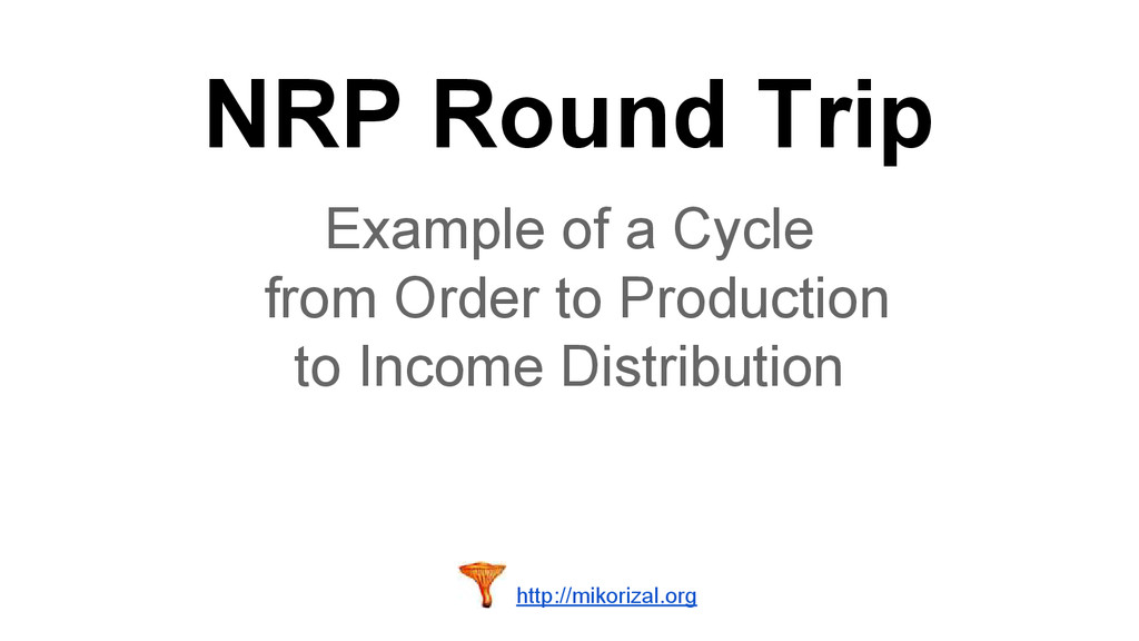NRP Round Trip Example of a Cycle from Order to...