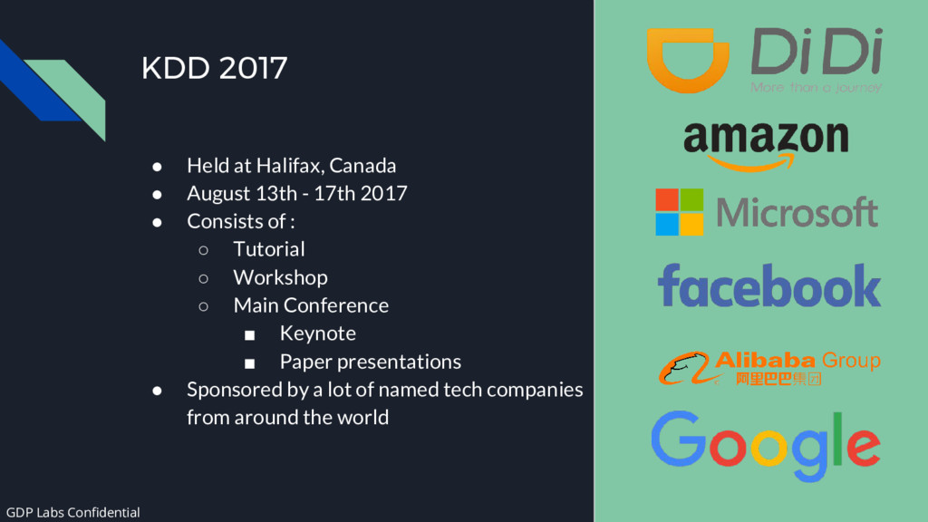 KDD 2017 ● Held at Halifax, Canada ● August 13t...