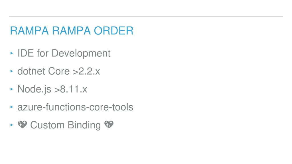RAMPA RAMPA ORDER ‣ IDE for Development ‣ dotne...