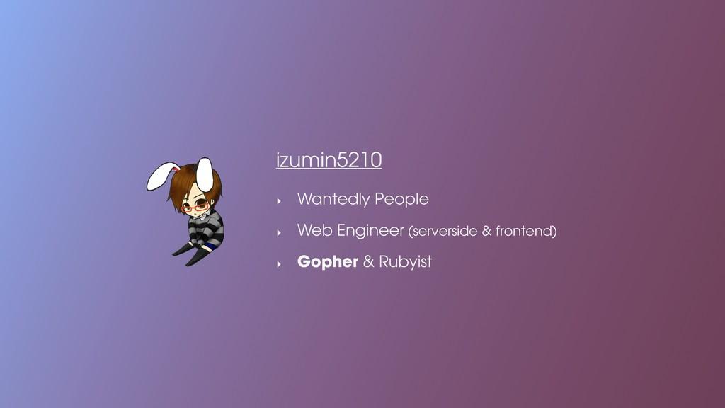 izumin5210 ‣ Wantedly People ‣ Web Engineer (se...