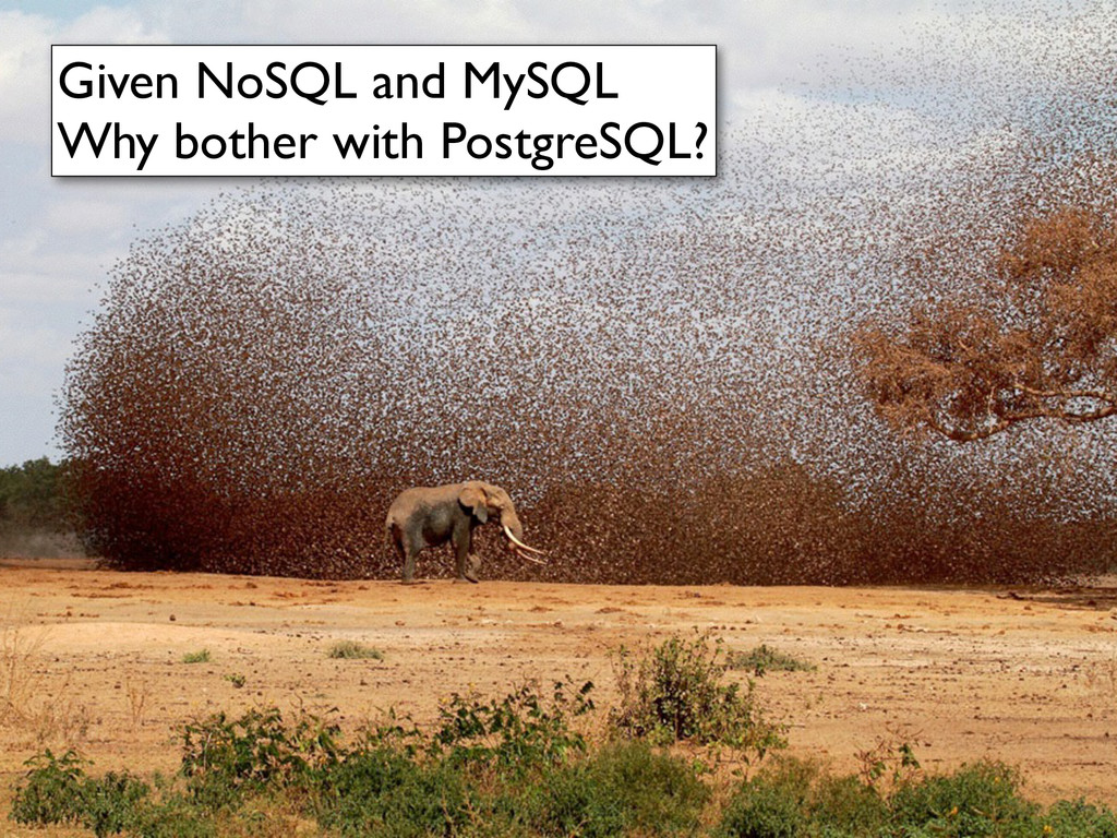 Given NoSQL and MySQL	 
