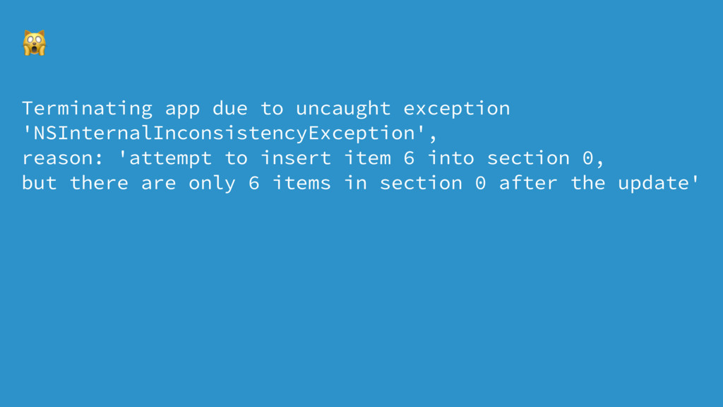 ! Terminating app due to uncaught exception 'NS...
