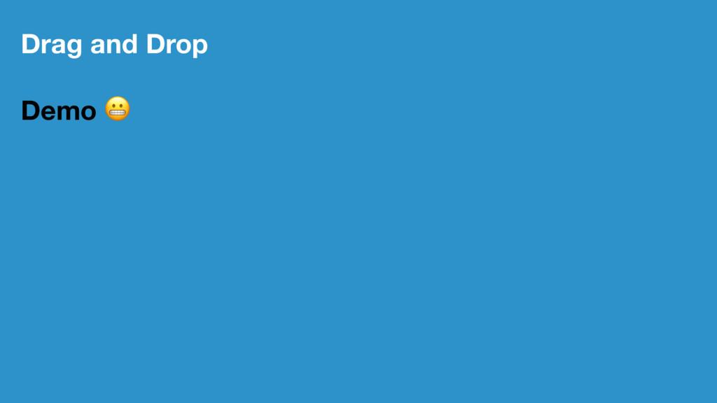 Drag and Drop Demo !