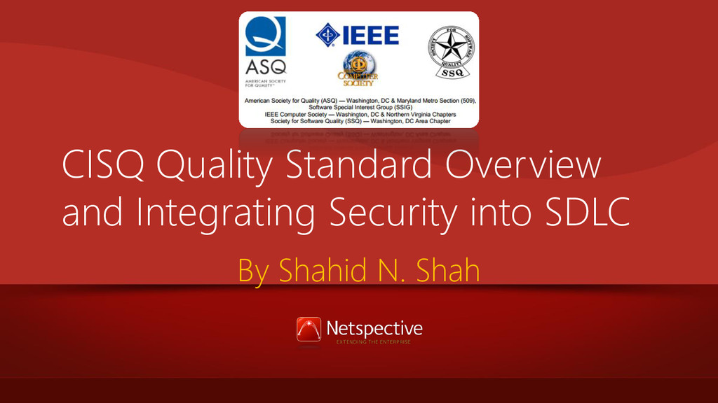 CISQ Quality Standard Overview and Integrating ...